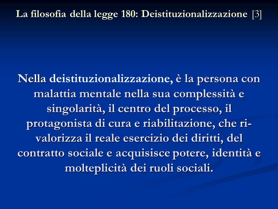 La filosofia della legge 180: Deistituzionalizzazione [3]